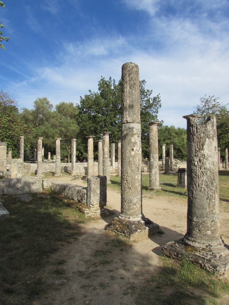 Ancient Olympia in the Peloponnese of Greece