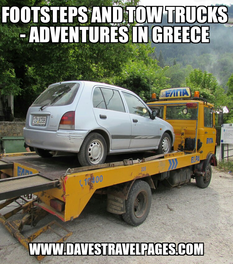footsteps and tow trucks adventures in greece
