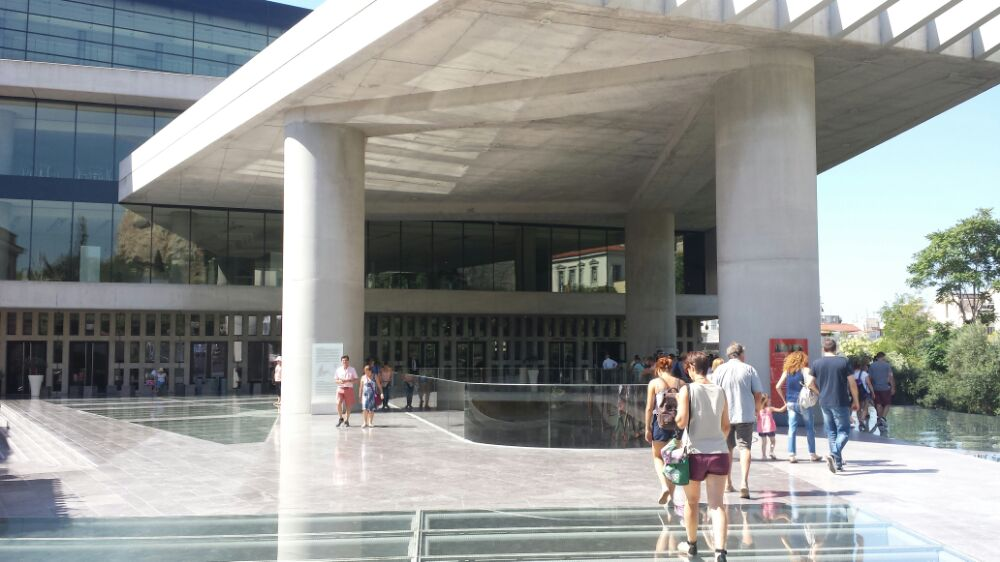 The entrance to the Acropolis Museum in Athens