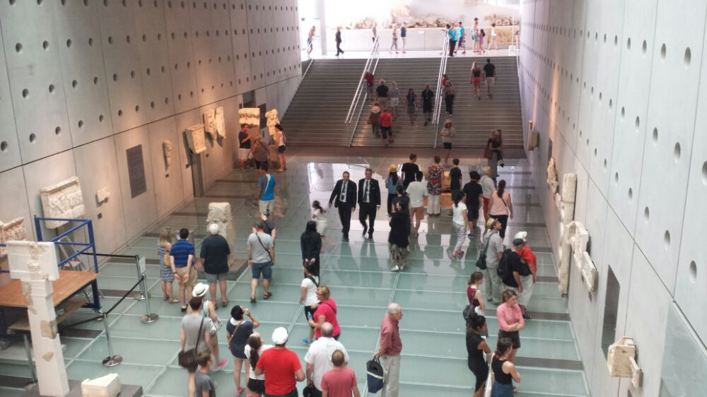 Inside the Acropolis museum in Athens
