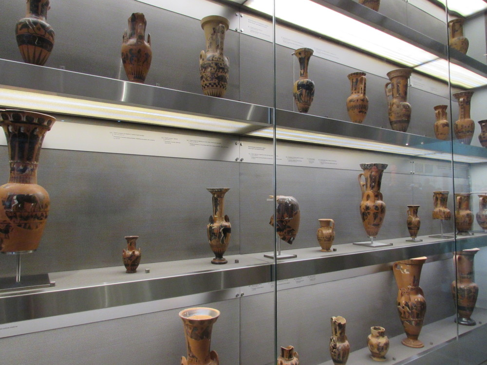 Exhibits from the Acropolis museum