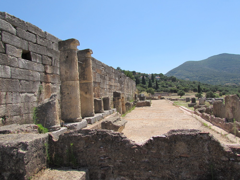 Exploring the archaeological site of Ancient Messene in the Peloponnese region of Greece. It's a half hour drive away from Kalamata.
