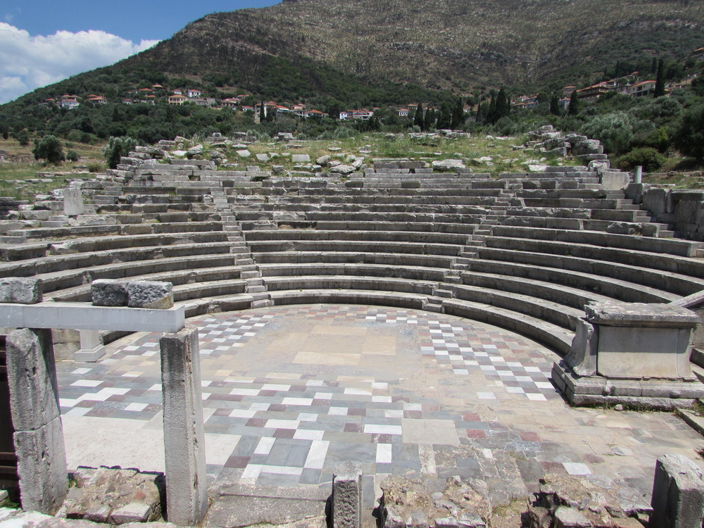 The theatre of Ancient Messene has a wonderful backdrop.