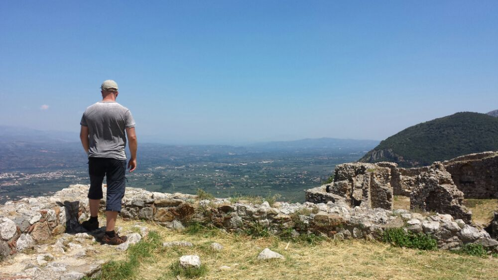 Dave Briggs in Mystras Greece