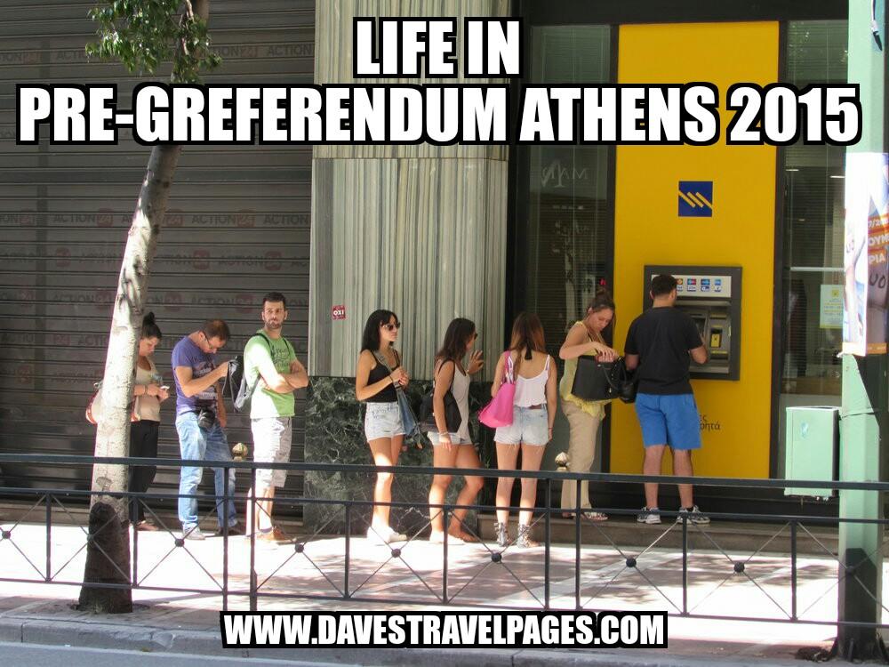Life in pre-Greferendum athens 2015