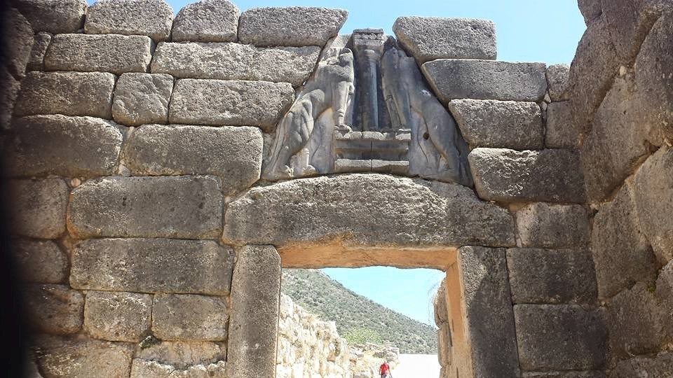 The Lion's Gate in Mycenae Greece