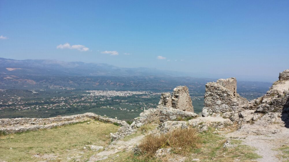 Mystras Fortress in the Peloponnese of Greece