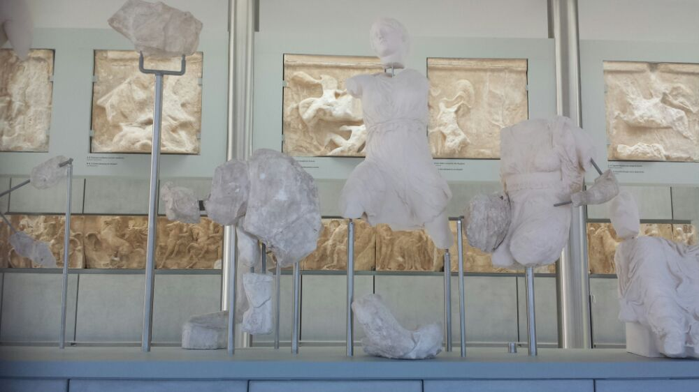 The Parthenon level of the Acropolis museum in Athens
