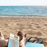 South Peloponnese Road Trip Greece - Planning the next place to go, whilst listening to the waves on the beach.