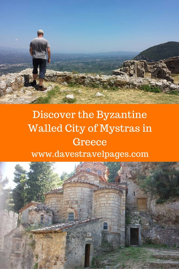 The Byzantine walled city of Mystras in Greece, is a must-see for anyone visiting the Peloponnese region. The castle and town ruins are a beautiful monument to the Byzantine era in Greece.