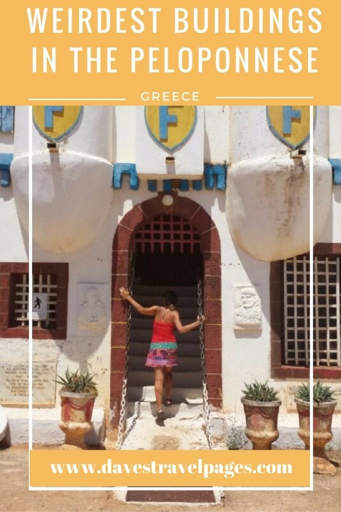 Greece is well known for its ancient sites and great beaches, but do you know about the weirdest buildings in the Peloponnese? Time to see another side of Greece!