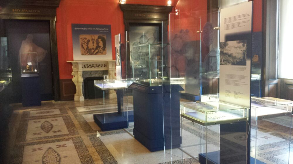 Part of the Alpha bank exhibition in the Numismatic Museum of Athens