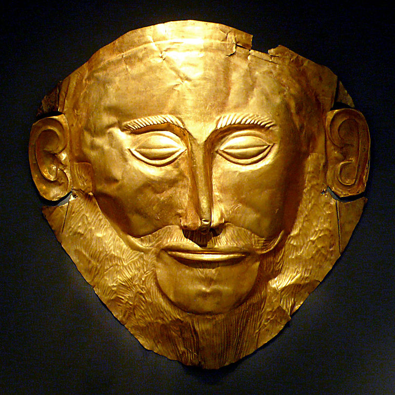 Mask Of Agamemnon, found in Mycenae, Greece