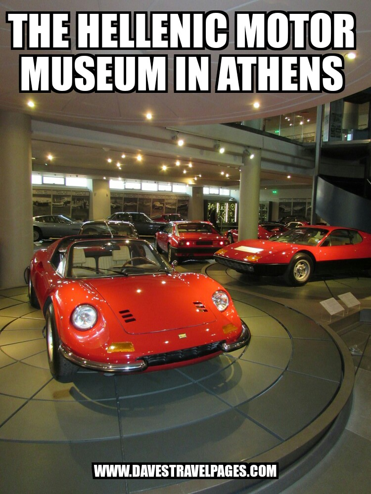 The Hellenic Motor Museum of Athens has over 100 cars on display. Find out more at www.davestravelpages.com