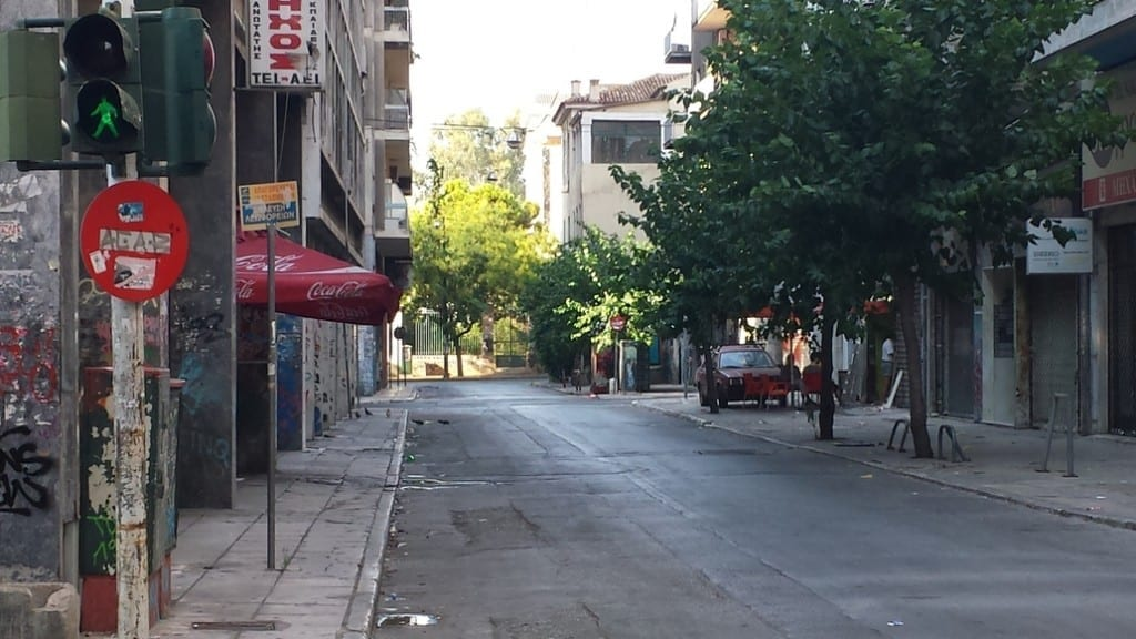 Athens on vacation - The streets are empty as Athenians go on their big summer holidays.