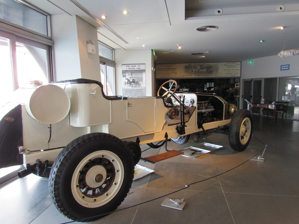 A huge car on display in the car museum in Athens