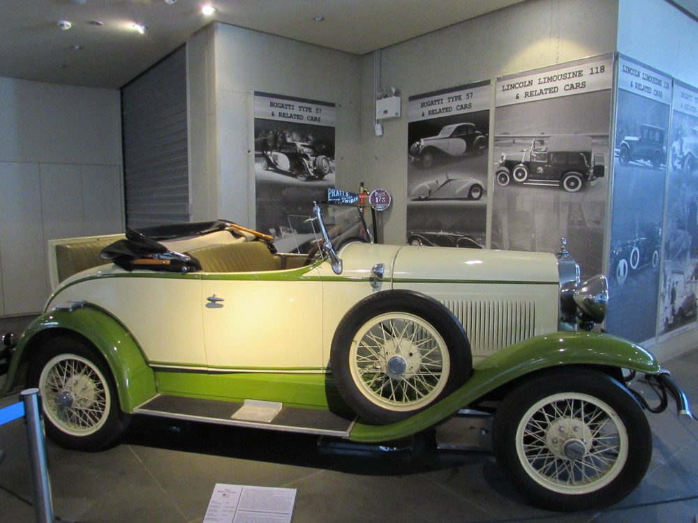 A classic car on display in the Hellenic Motor Museum in Athens
