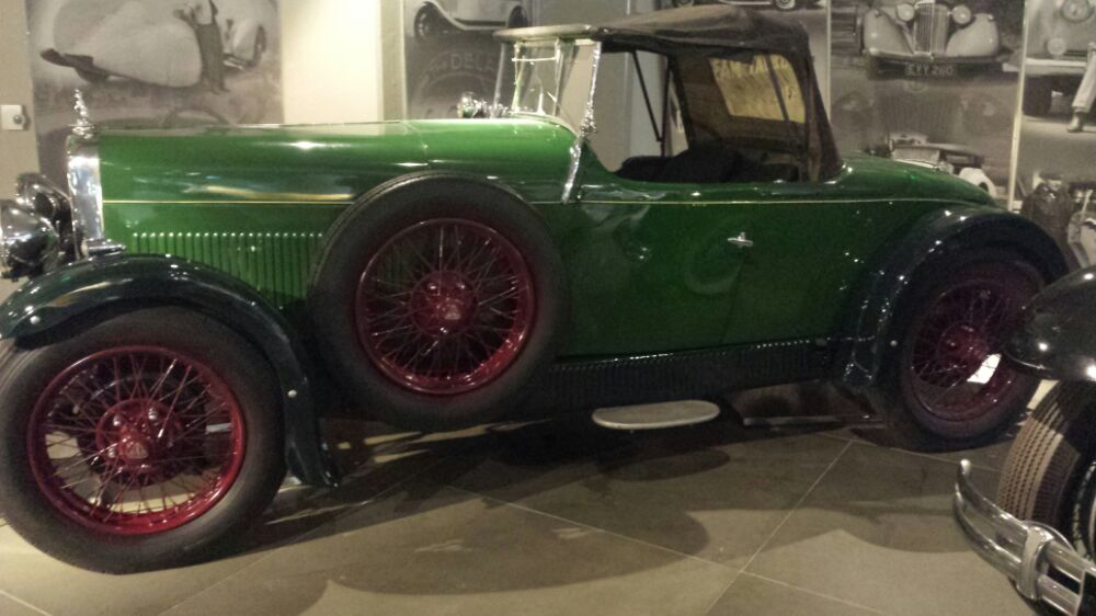 Green car at the Hellenic Motor Museum in Athens
