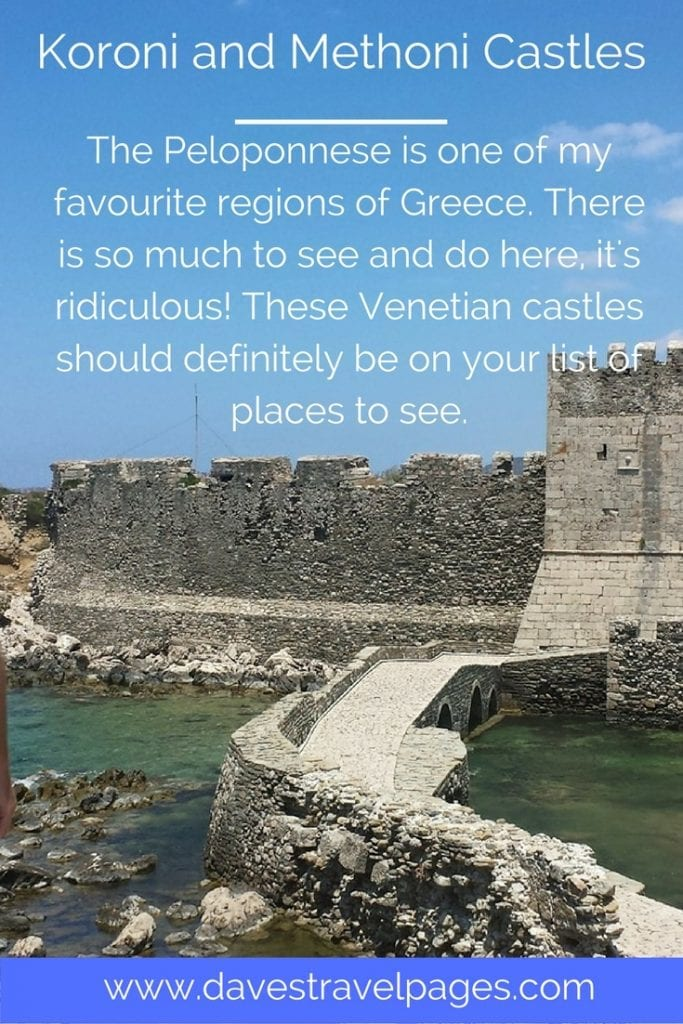 The Peloponnese is one of my favourite regions of Greece. There is so much to see and do here, it's ridiculous! These Venetian castles should definitely be on your list of places to see.