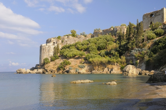 Koroni Castle by the sea, Greece