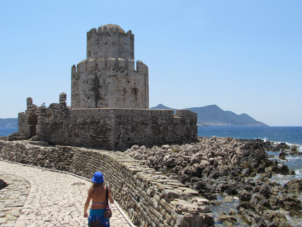 The Bourtzi section of Methoni Castle in Greece.