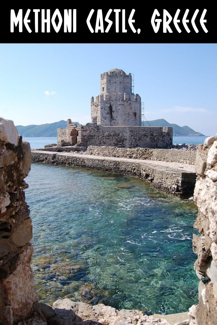 Castle by the sea, Greece. Methoni Castle in Greece is a must see when visiting the Peloponnese region.