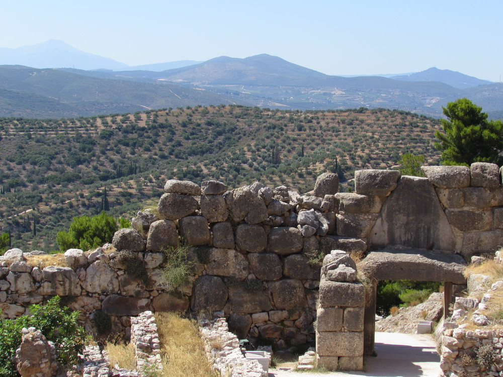 Mycenae UNESCO site in Greece