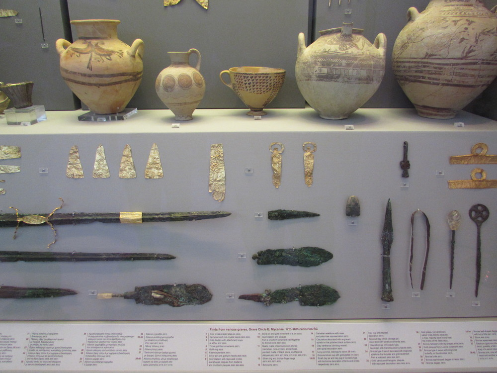 Mycenae treasure On display at the National Archaeological Museum of Athens