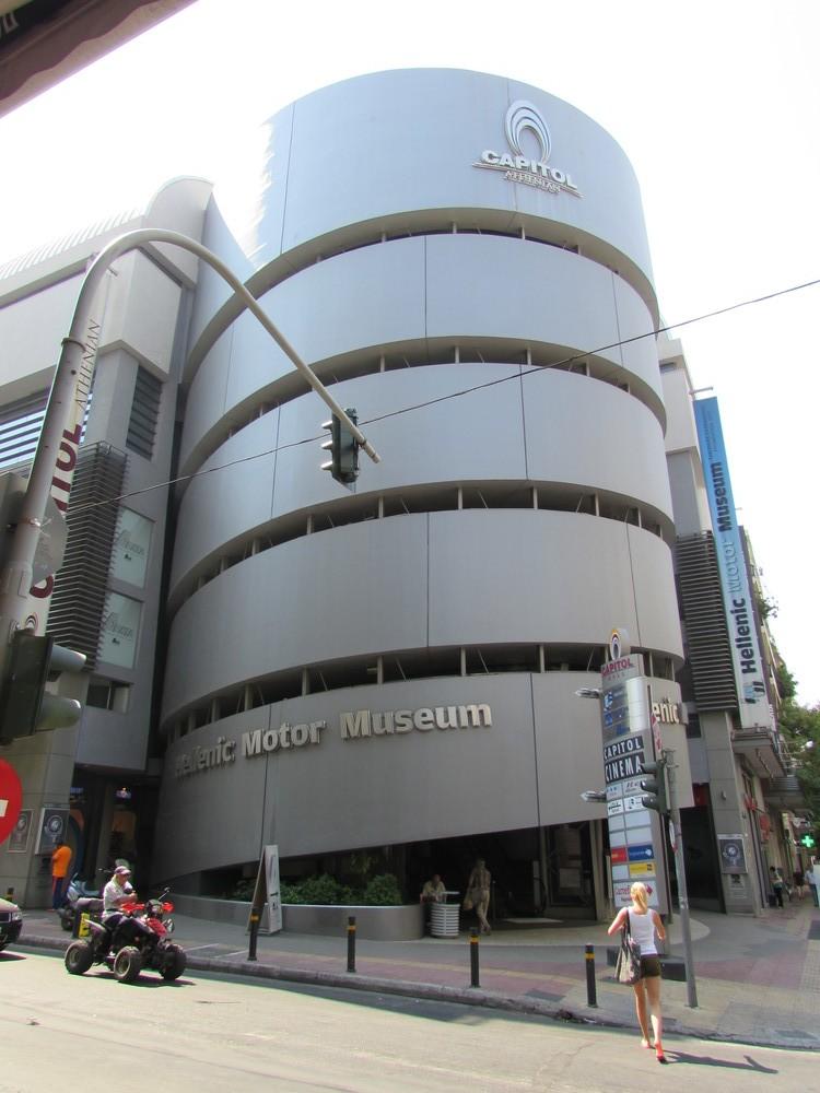 The Hellenic Motor museum building - A unique spiral shape