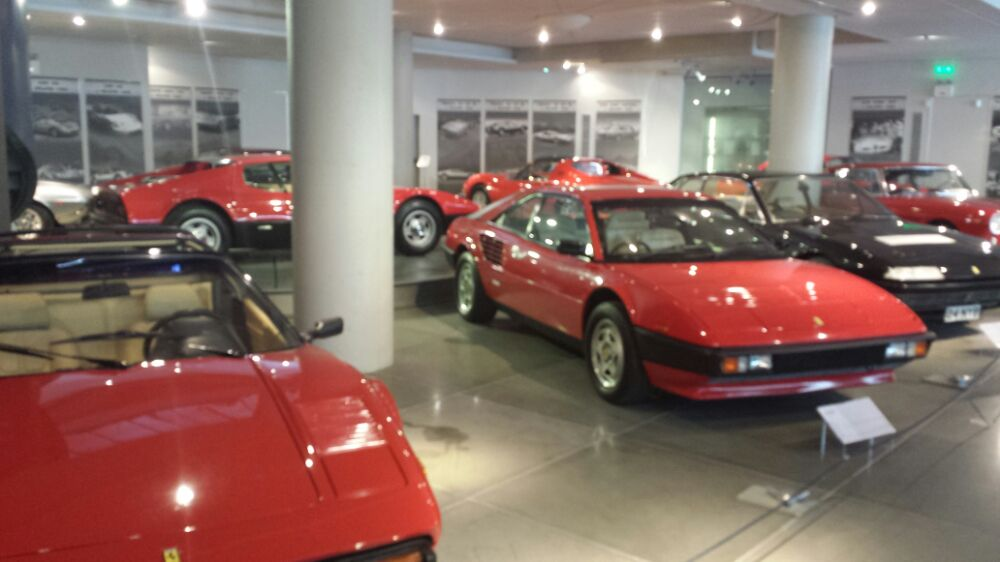red cars at the Hellenic Morot Museum in Athens Greece