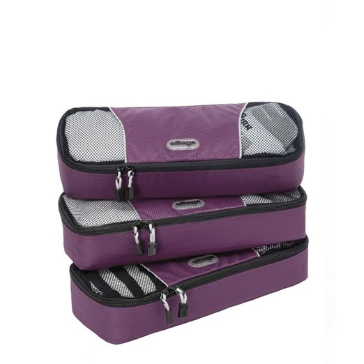 Slim packing cubes for travel