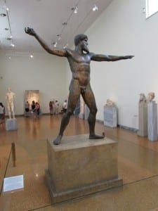 The Artemision Bronze - Is this Poseidon or Zeus? On display at the National Archaeological Museum of Athens