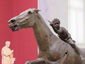 The Artemision horse and rider - On display at the National Archaeological Museum of Athens