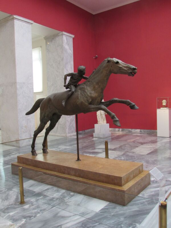 The Artemision Jockey - On display at the National Archaeological Museum of Athens