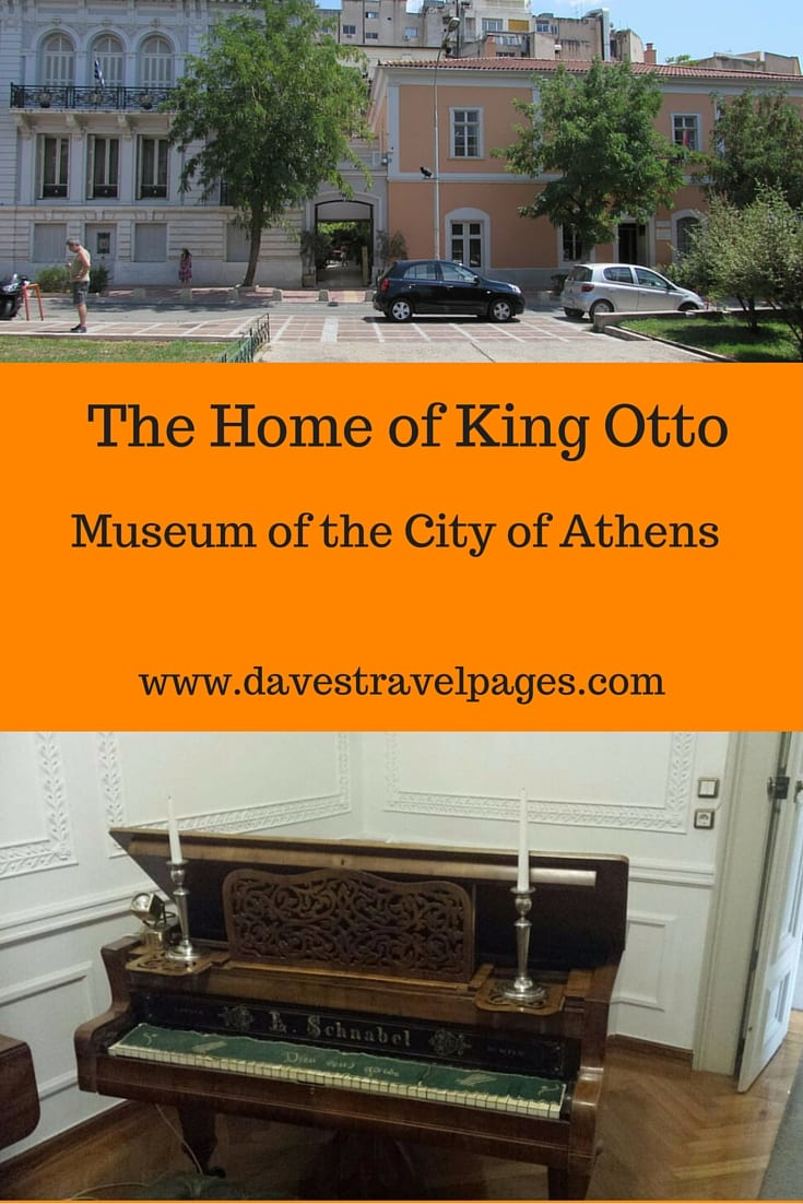 The Museum of the City Of Athens, is a museum that many visitors to Athens may never hear of. In fact, many locals haven't heard of it either! That's a real shame, because where else in Greece can you see the largest painting of Athens ever made, and period 19th century aristocratic furniture all housed in the former palace of a King?