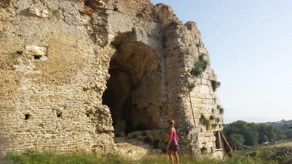 The ruins of Nicopolis in Greece
