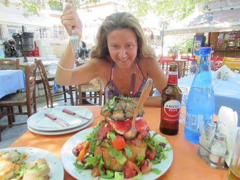 A Huge salad in Karya, Lefkada