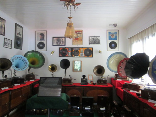 Inside the Museum of Gramophones and Radios in Karya o the Greek Island of Lefkada