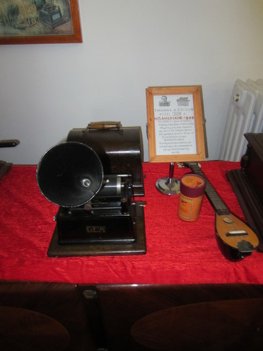 The first gramophone produced by Thomas Edison on display in the Museum of Gramophones and Radios in Lefkada.