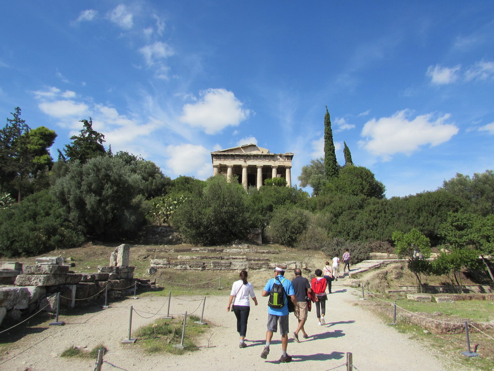 Exploring the Ancient Agora in Athens.