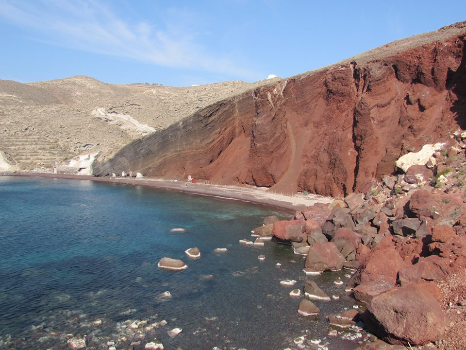 The famous Red Beach of Santorini
