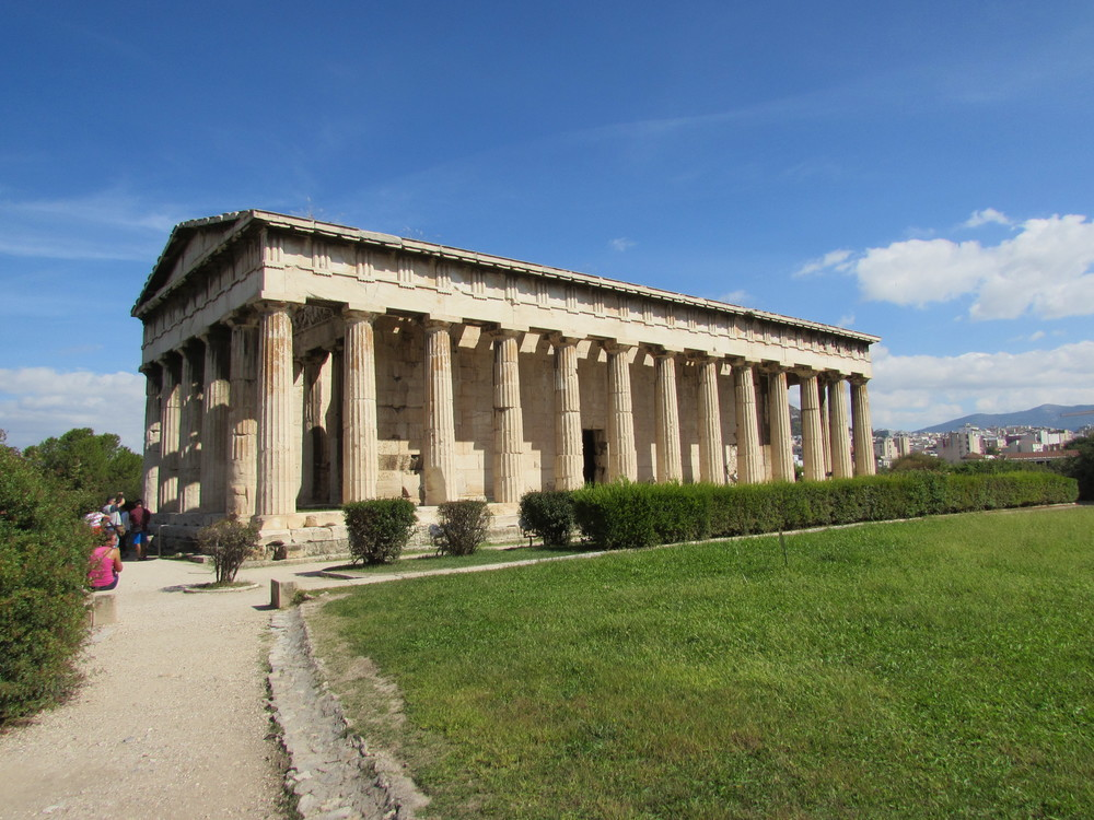 The Temple of Hehpaistos in the Ancient Agora of Athens.