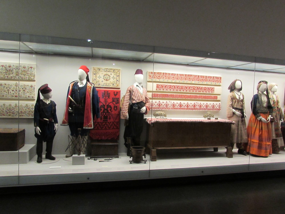 National costume on display in the Benaki Museum of Athens