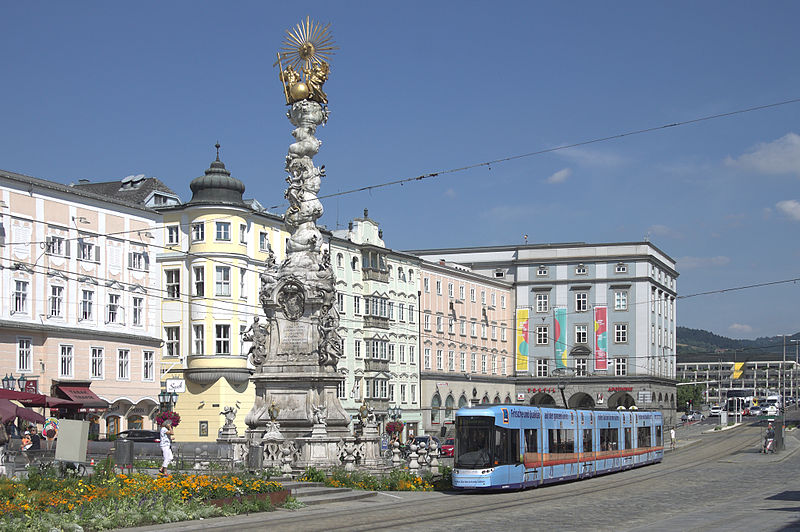 The Austrian city of Linz.