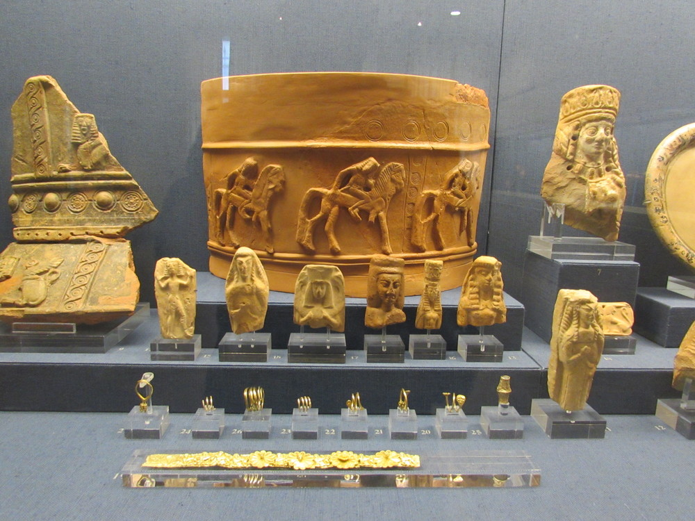 Display exhibited in the Benaki Museum in Athens