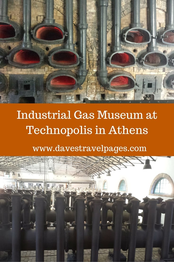 The Technopolis Industrial Gas Museum can be found in the Technopolis complex in the Gazi area of Athens. The museum describes in great detail the machinery and operation of the former gasworks.