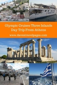 The Olympic Cruises Three Islands cruise, is a great day trip from Athens. Visiting the three nearby islands of Hydra, Poros, and Aegina, in one day, you have a full Greek experience of culture, cuisine, history, and beauty.