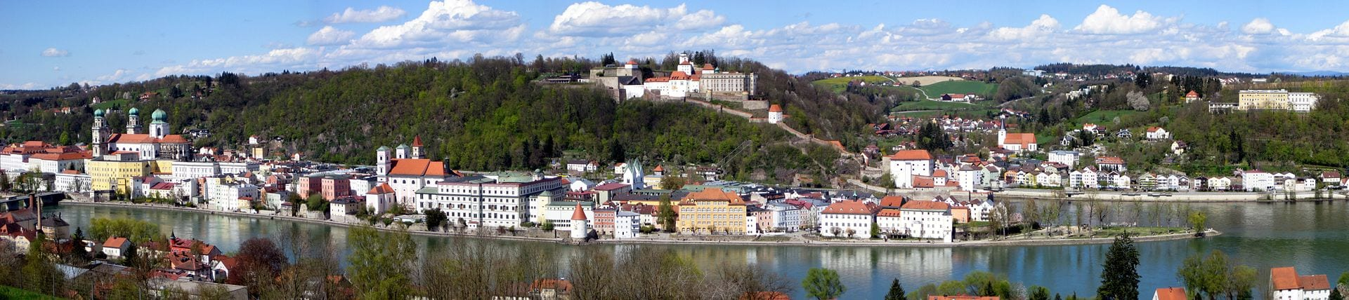 Passau is a popular place to begin cycling the River Danube Cycle Path.