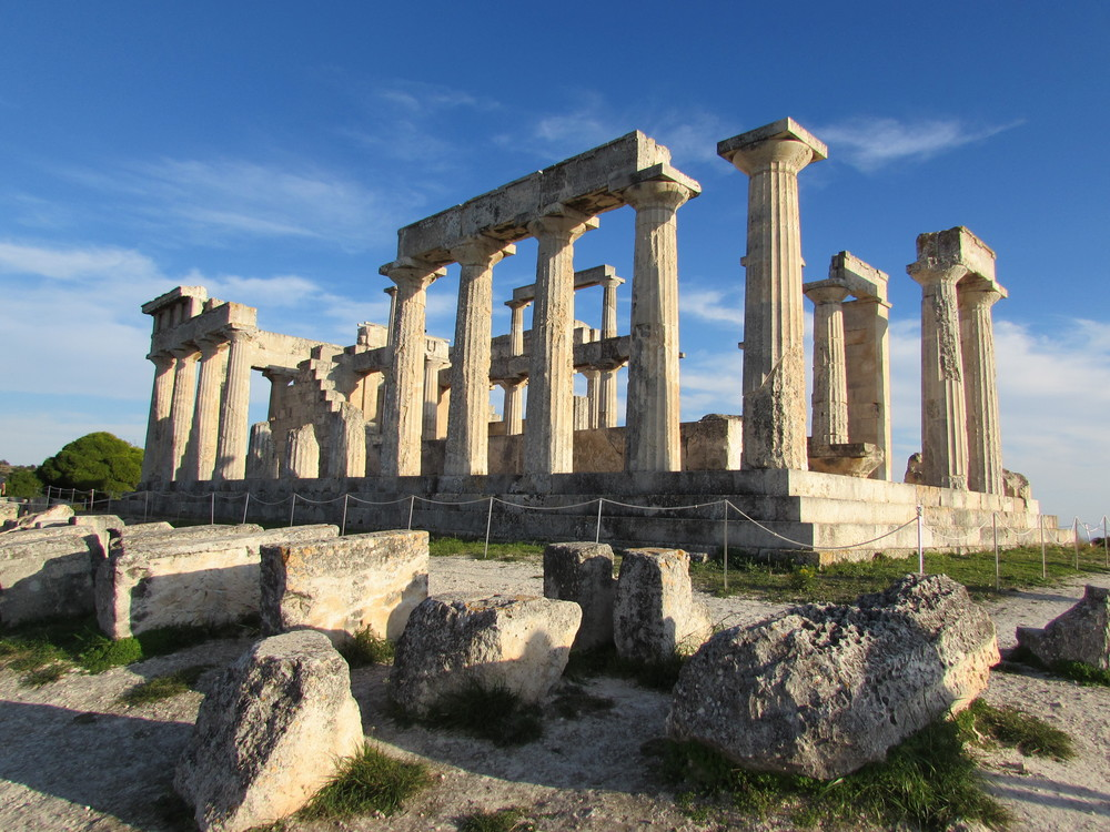 The Temple of Aphaia on Aegina. Said to be one of the Sacred Triangle Temples.