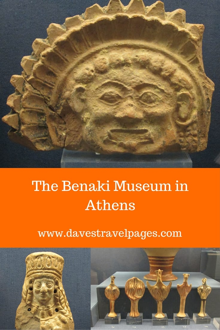 A guide to the Benaki Museum in Athens. This museum documents Greek history and culture in chronological order from the Neolithic period, to the end of the First World War. A 'must-see' when visiting Athens, Greece.